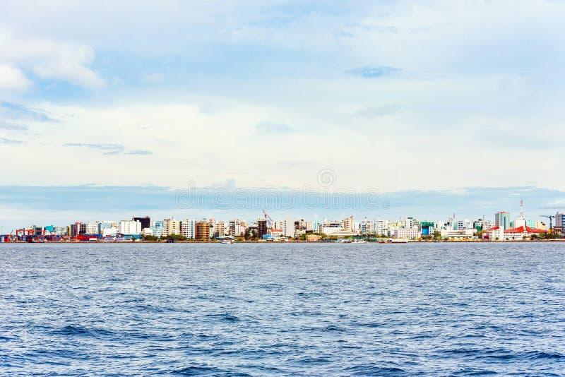 Vista della città del maschio immagine stock libera da diritti