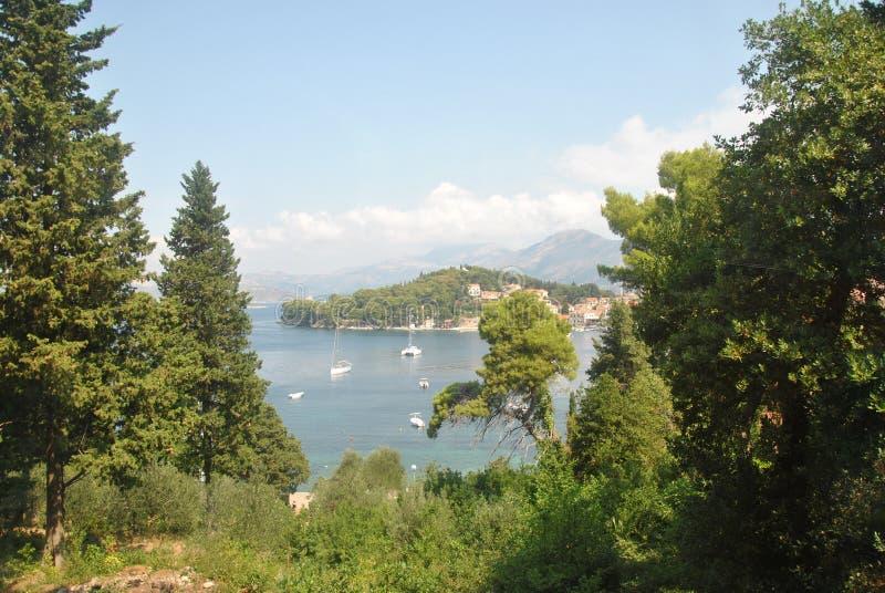 Vista della città dell'isola fotografie stock libere da diritti