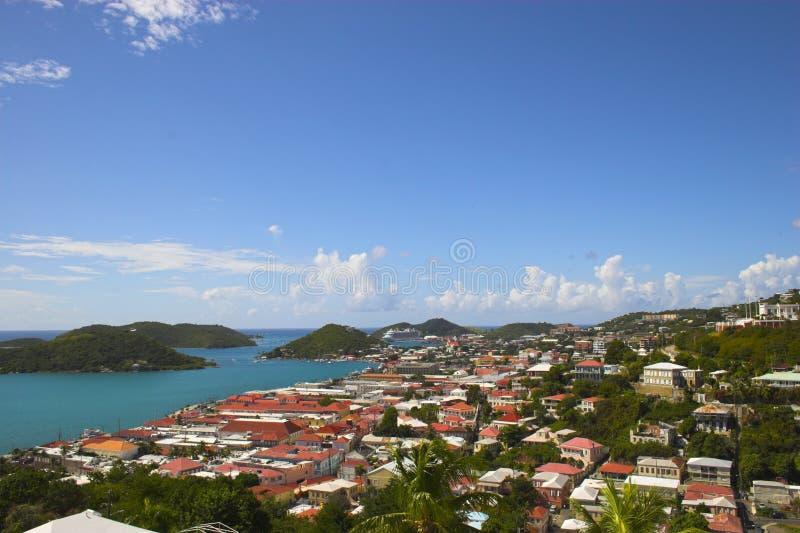 Vista della città dell'isola fotografie stock