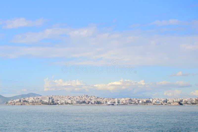 Vista della città dell'isola dei salami Atene, Grecia fotografia stock