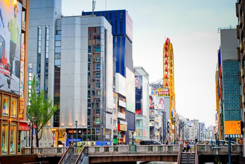 Vista della città della galleria di acquisto di Shinsaibashi il 18 aprile 2014 a Osaka, GIAPPONE fotografie stock libere da diritti