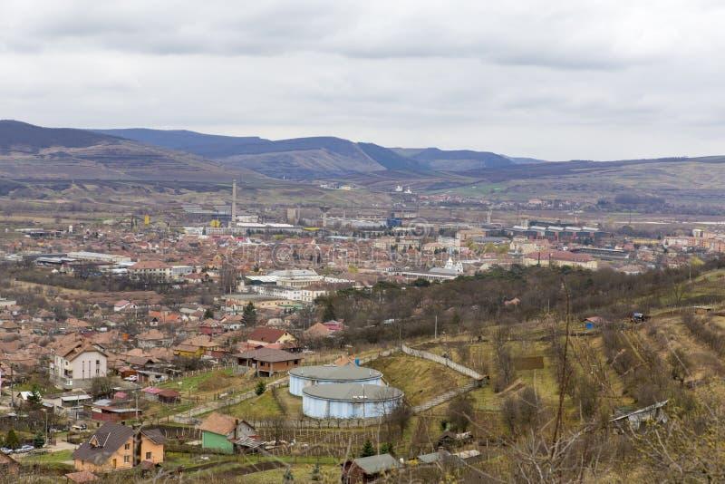 Vista della città di Aiud immagine stock libera da diritti