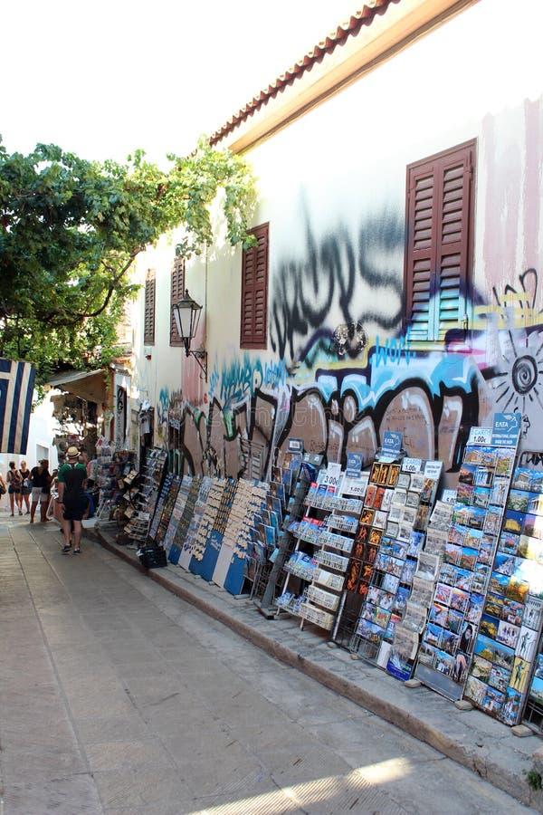 Vista della città di Atene immagine stock