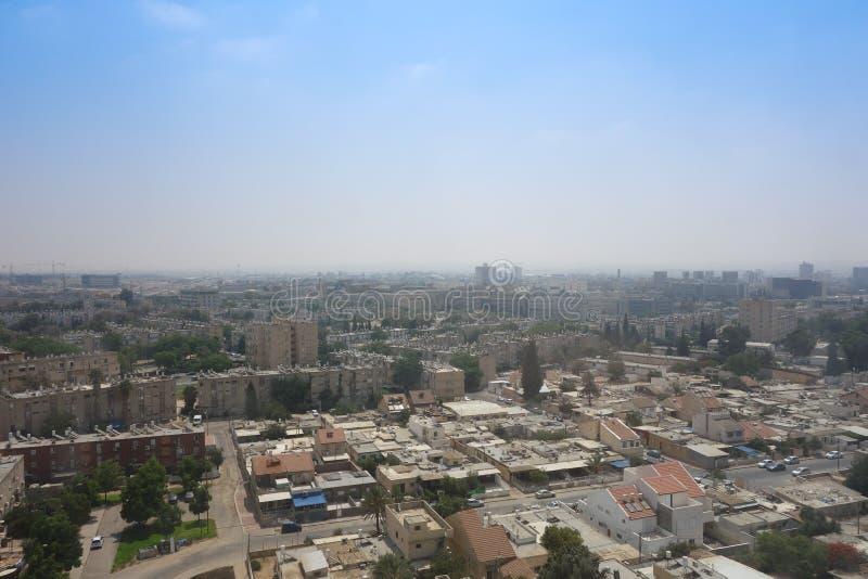 Vista della città di birra Sheva fotografia stock libera da diritti