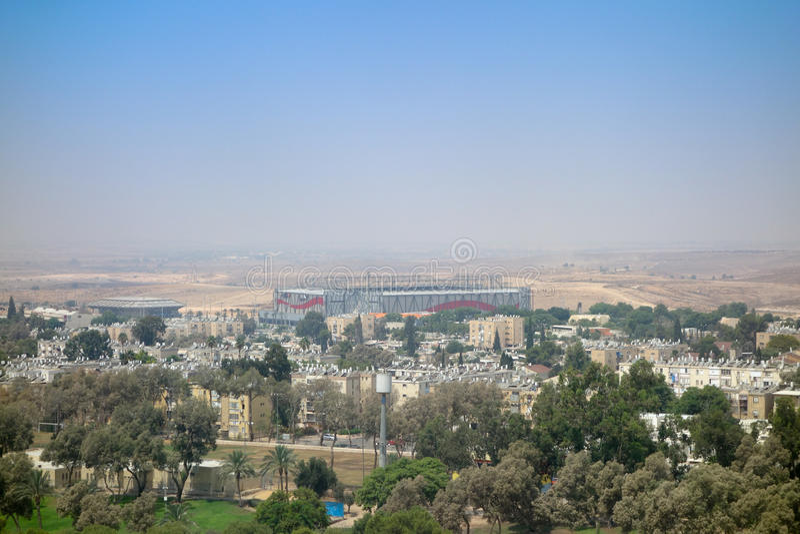 Vista della città di birra Sheva fotografie stock libere da diritti