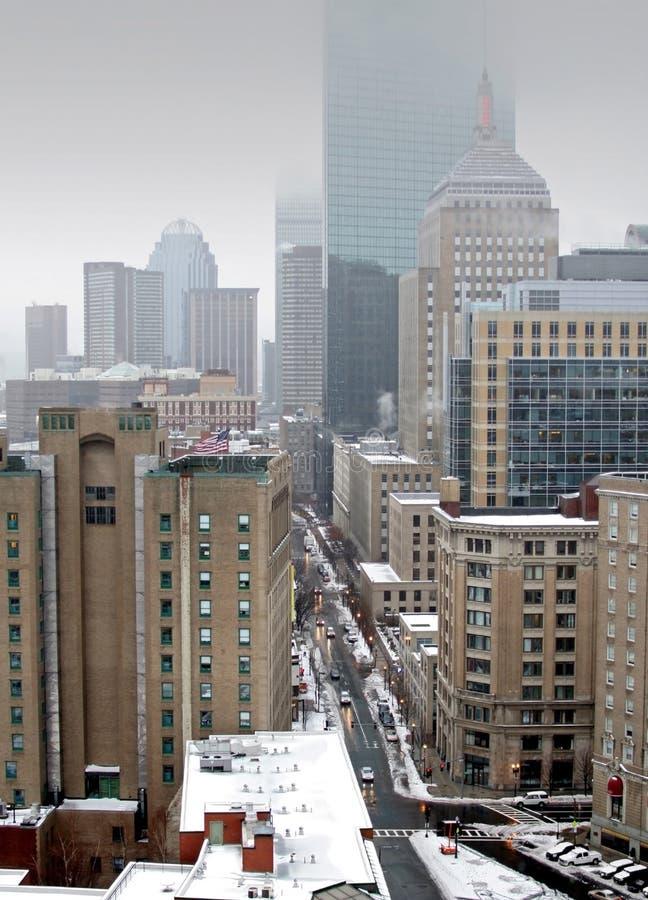 Vista della città di Boston fotografia stock libera da diritti
