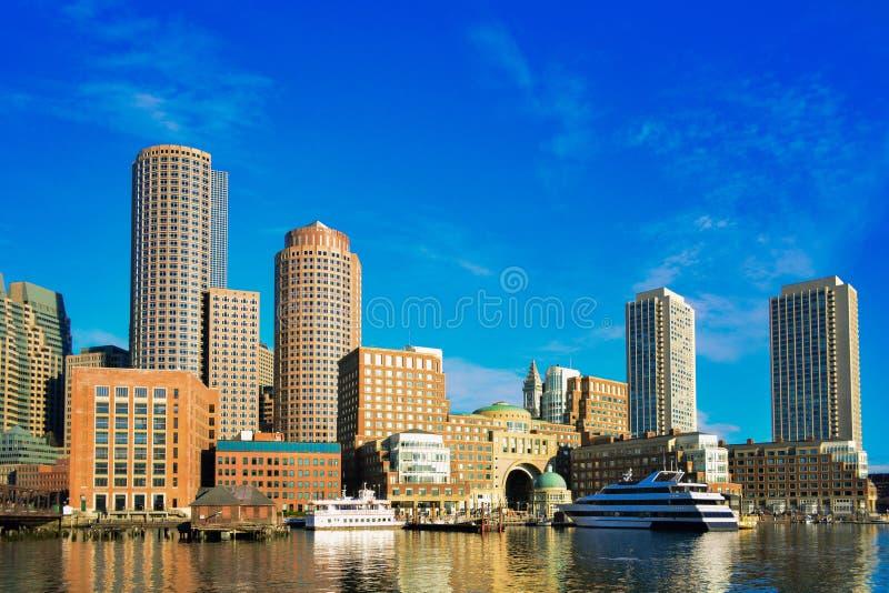 Vista della città di Boston fotografia stock