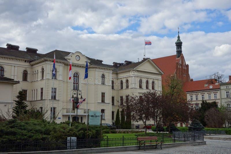 Vista della città di Bydgoszcz fotografie stock