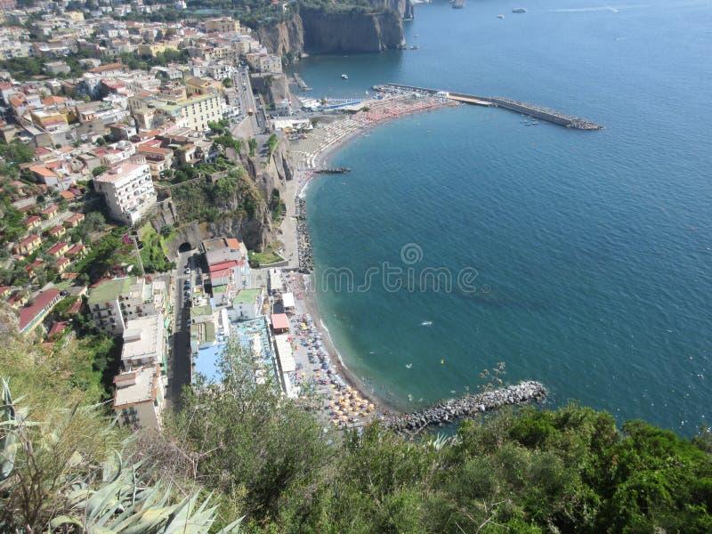 Vista della città di Capri fotografie stock libere da diritti