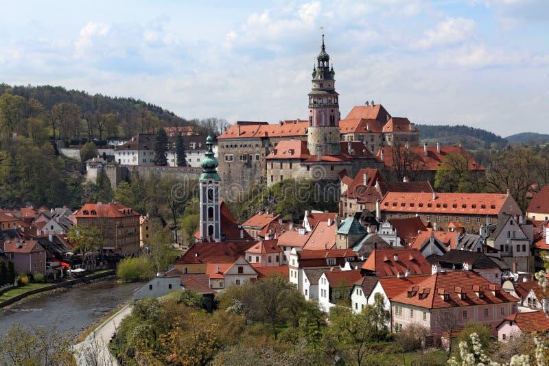 Vista della città di Cesky Krumlov immagini stock libere da diritti