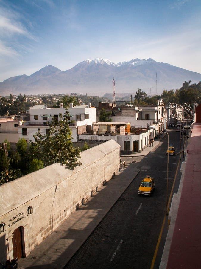 Vista della città di Chachani fotografia stock libera da diritti