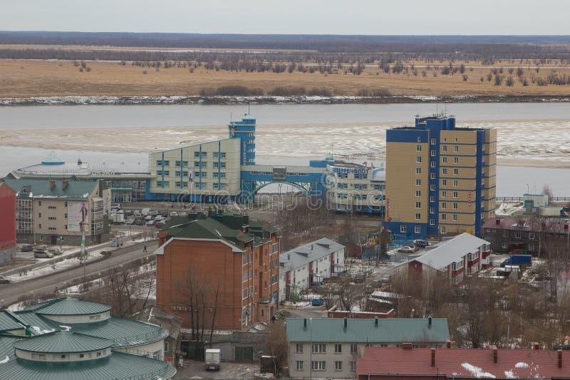 Vista della città di Chanty-Mansijsk fotografia stock libera da diritti