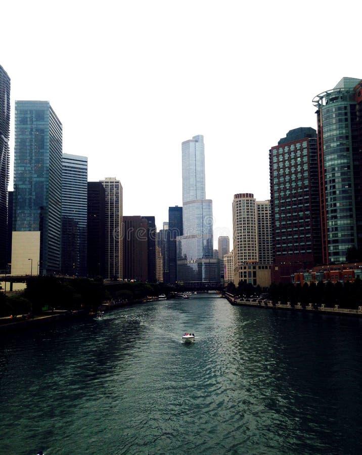 Vista della città di Chicago fotografie stock libere da diritti