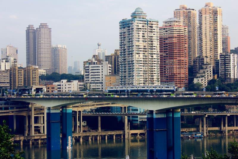 Vista della città di Chongqing, Cina immagine stock libera da diritti