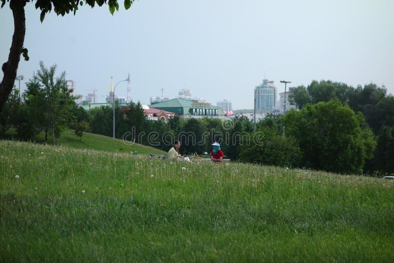 Vista della città di Ekaterinburg immagine stock libera da diritti