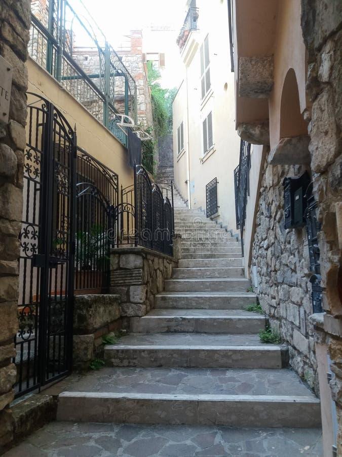 Vista della città di Gaeta fotografia stock