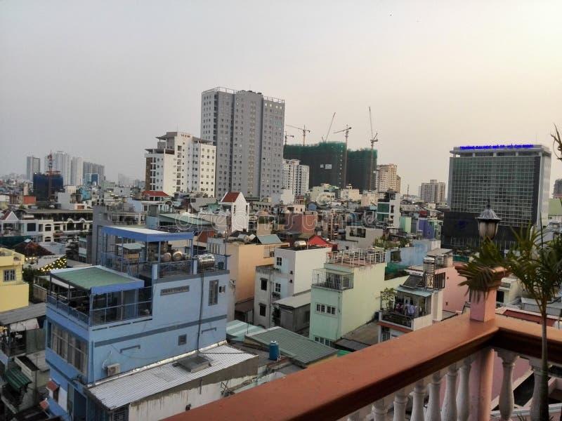 Vista della città di Ho Chi Minh immagini stock libere da diritti