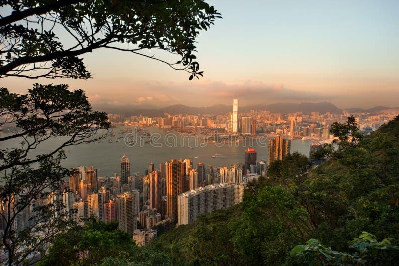 Vista della città di Hong Kong immagini stock libere da diritti