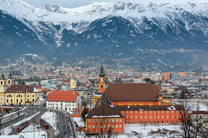 Vista della città di Innsbruck fotografia stock libera da diritti