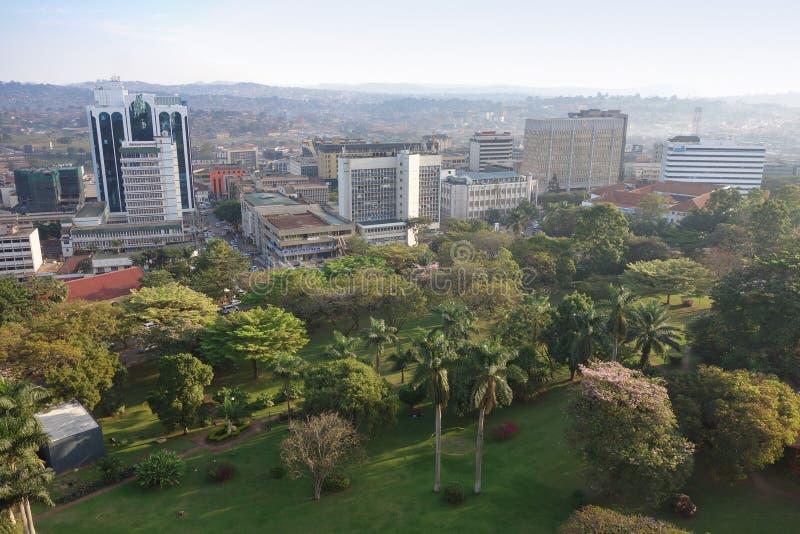 Vista della città di Kampala fotografie stock libere da diritti