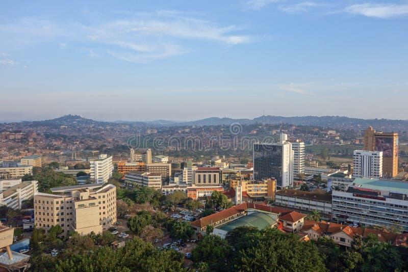 Vista della città di Kampala immagini stock