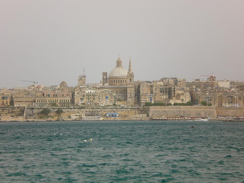 Vista della città di La Valletta, Malta fotografia stock