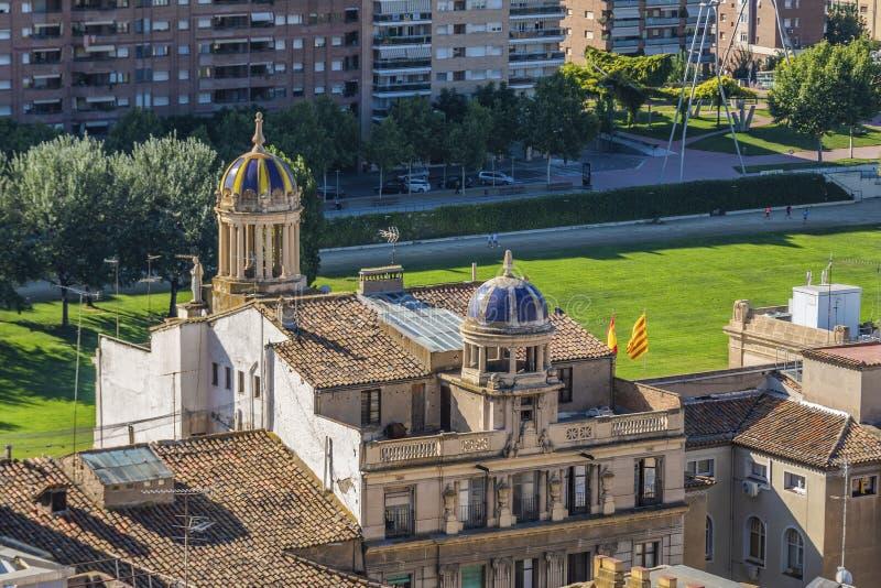 Vista della città di Lleida La Catalogna Spagna fotografie stock libere da diritti