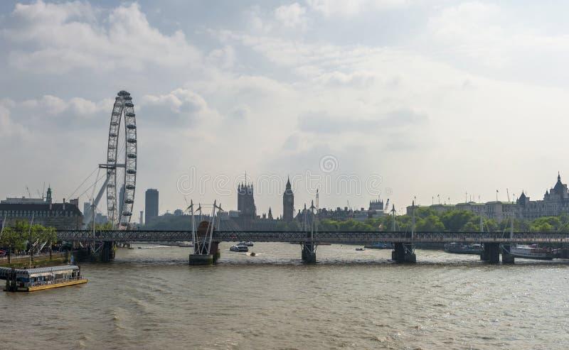 Vista della città di Londra fotografia stock