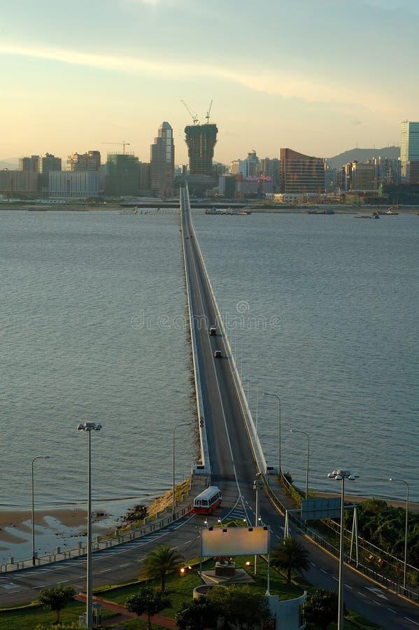 Vista della città di Macau immagini stock libere da diritti