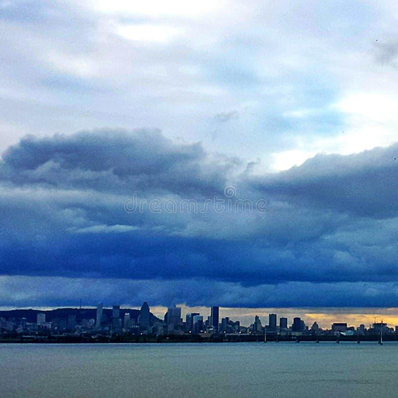 Vista della città di Montreal fotografie stock libere da diritti
