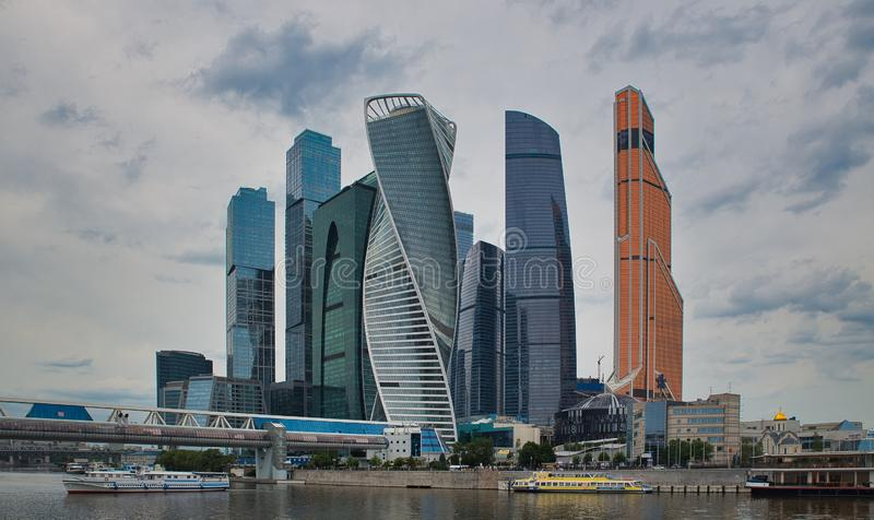 Vista della città di Mosca immagini stock libere da diritti