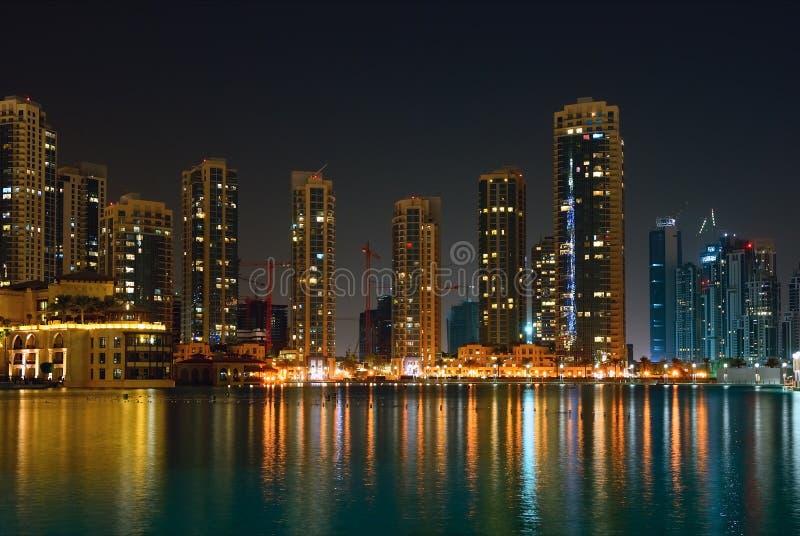 Vista della città di notte immagini stock libere da diritti