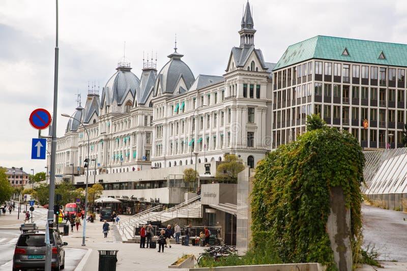 Vista della città di Oslo fotografia stock libera da diritti