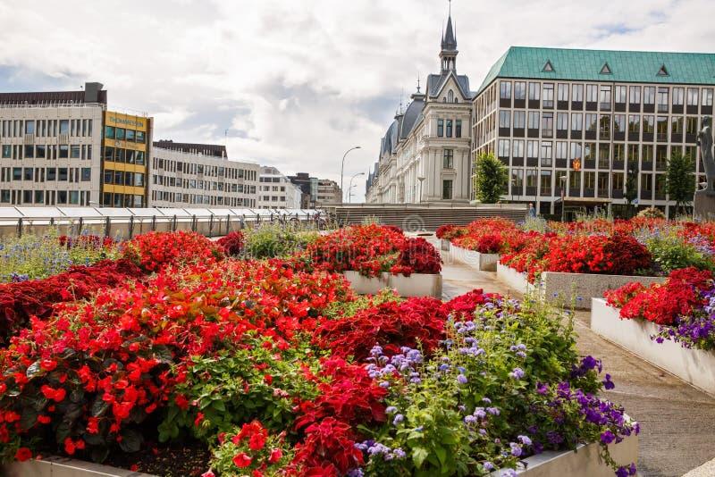 Vista della città di Oslo immagine stock libera da diritti