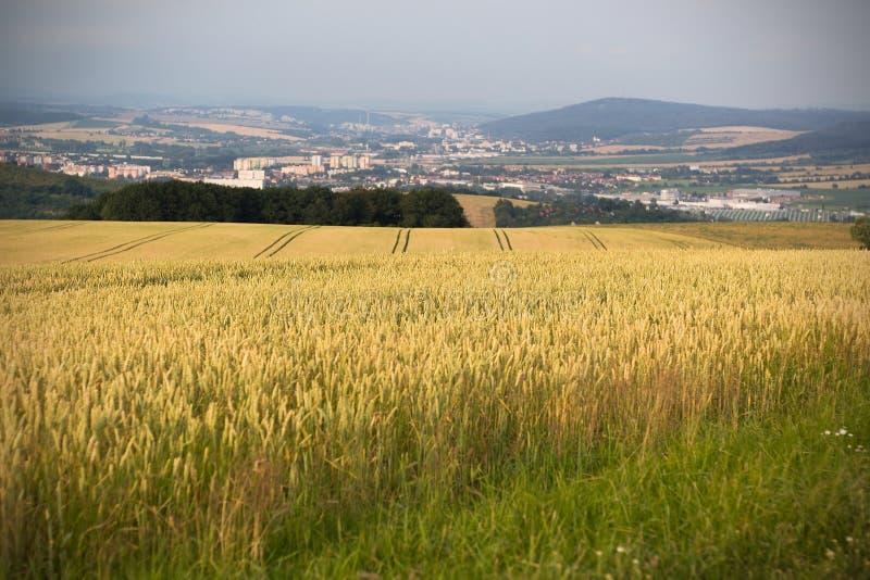 Vista della città di Otrokovice fotografia stock