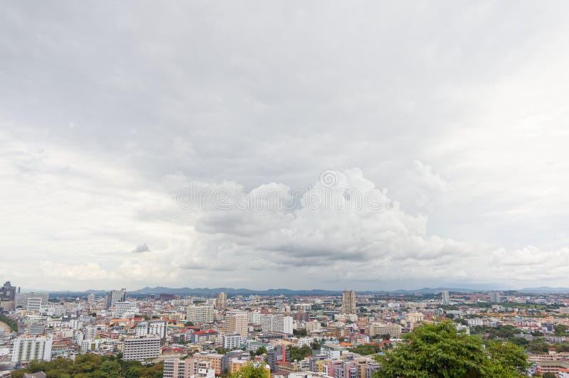 Vista della città di pattaya fotografia stock