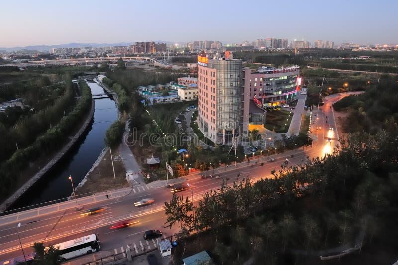 Vista della città di Pechino fotografia stock