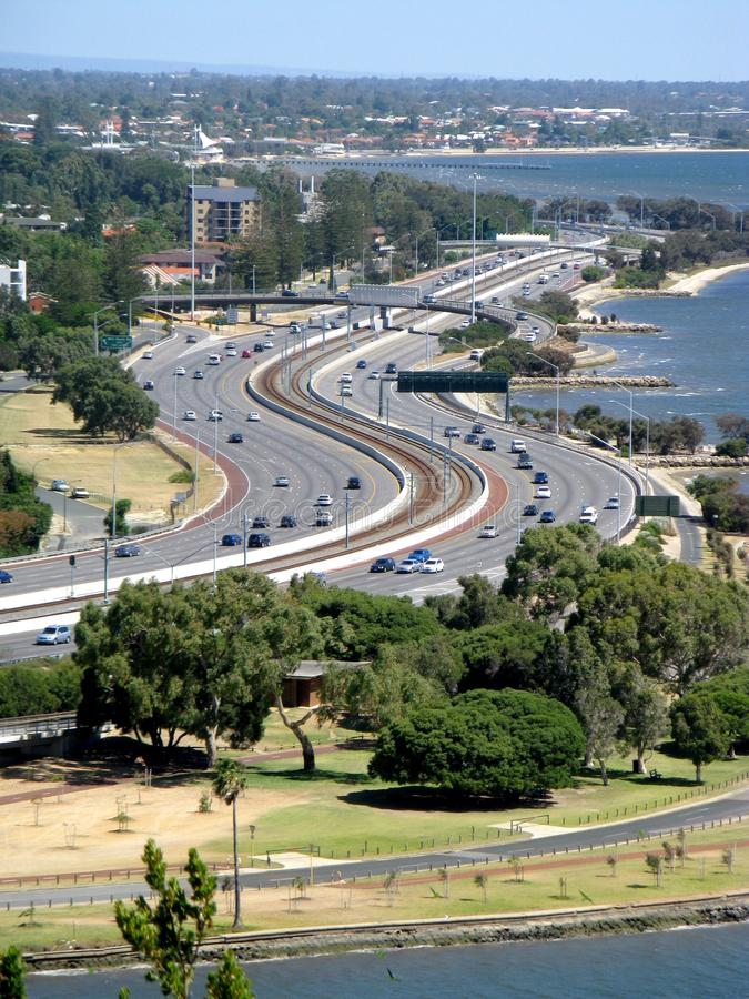 Vista della città di Perth fotografia stock libera da diritti