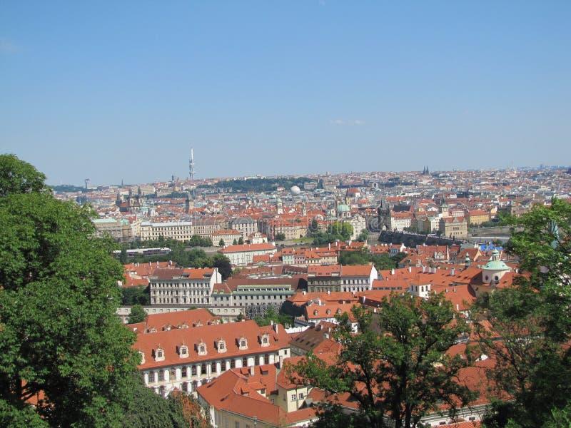 Vista della città di Praga fotografia stock