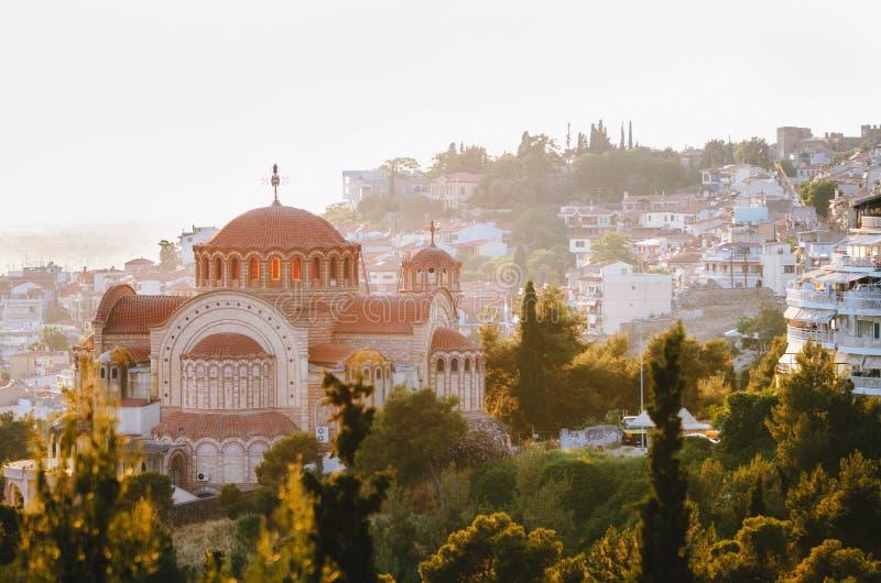 Vista della città di Salonicco, Grecia fotografia stock libera da diritti