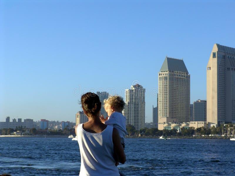 Vista della città di San Diego fotografia stock libera da diritti