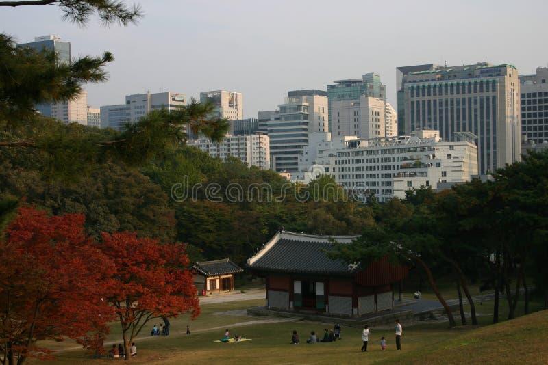 Vista della città di Seoul fotografie stock libere da diritti