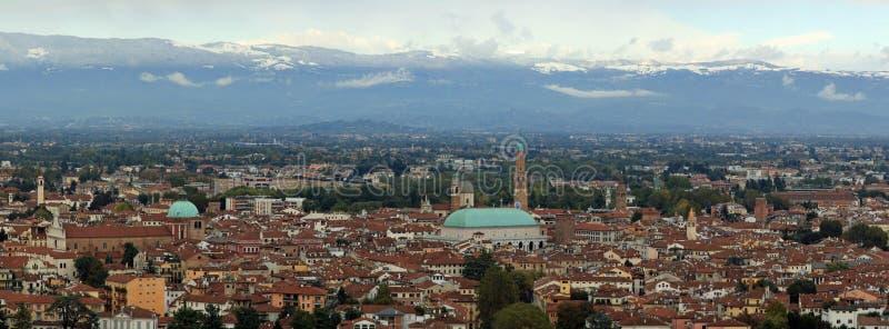 Vista della città di Vicenza fotografie stock