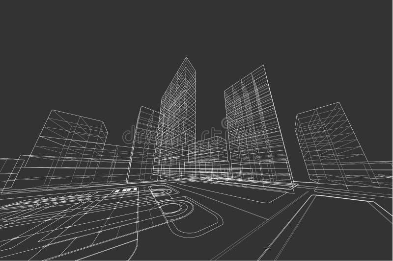 Estratto di architettura 3d illustrazione progettazione for Programma architettura gratis