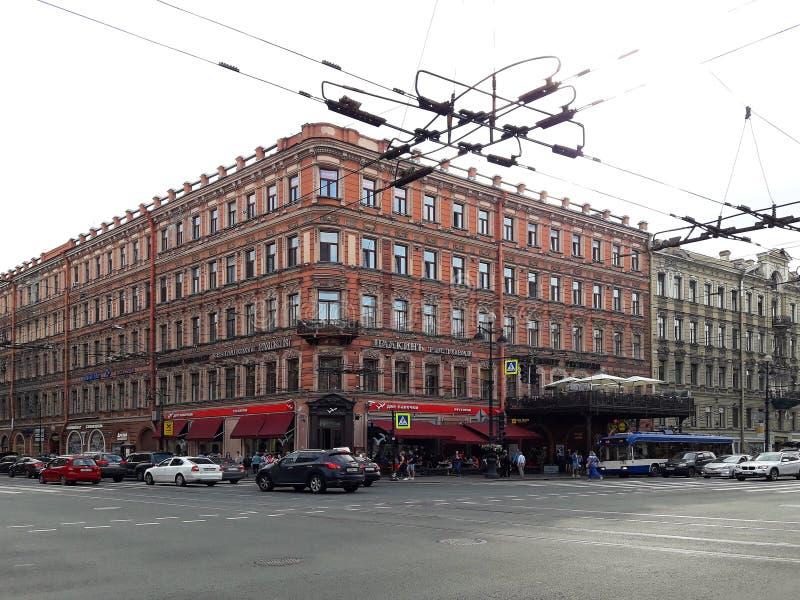 Vista della città della città europea San Pietroburgo, Russia immagine stock libera da diritti
