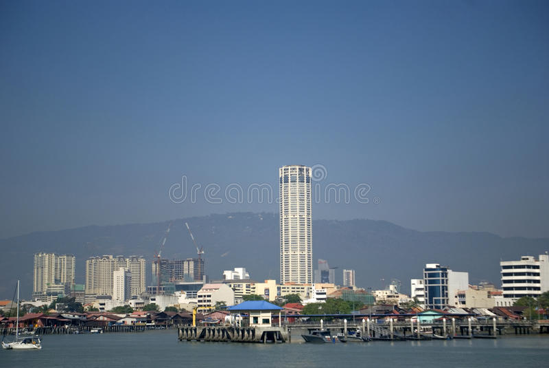 Vista della città, Georgetown, Penang, Malesia fotografia stock