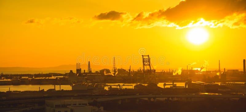 Vista della città intorno alla città Giappone di Osaka fotografia stock libera da diritti