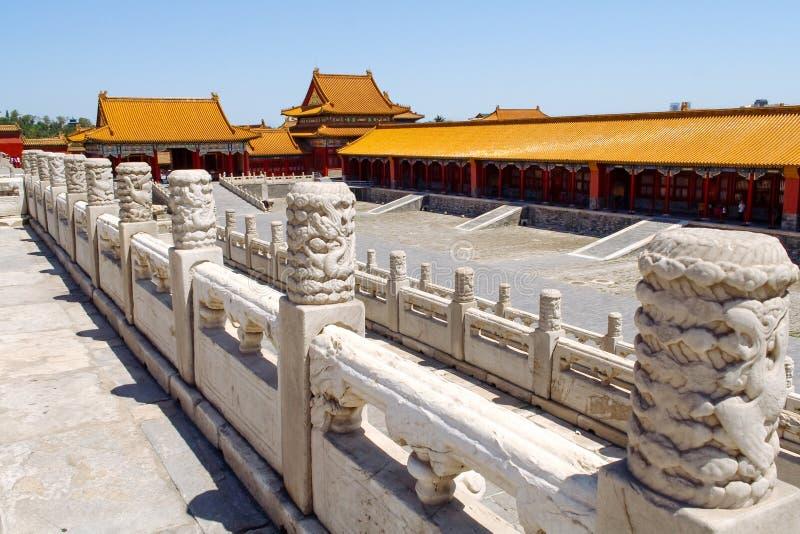 Vista della Città proibita a Pechino, Cina immagini stock libere da diritti