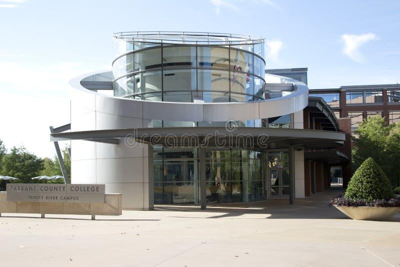 Vista della città universitaria dell'istituto universitario della contea di Tarrant fotografie stock