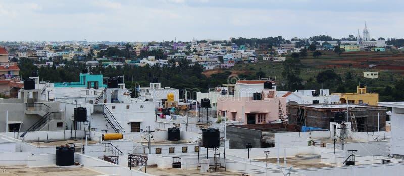 Vista della città urbana fotografia stock libera da diritti